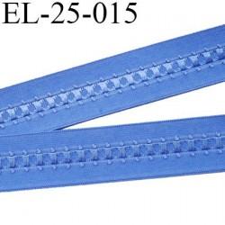 Elastique 24 mm bretelle et lingerie et autre très  belle qualité  30 % d'élasticité couleur bleu largeur 24 mm prix au mètre
