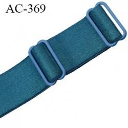 bretelle 25 mm lingerie SG couleur bleu vert brillant largueur 25 mm longueur 30 cm + réglage très haut de gamme prix à la pièc