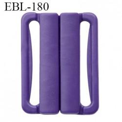 boucle clip 25 mm attache réglette pvc spécial maillot de bain couleur violet foncé  largeur intérieur 25 mm haut de gamme