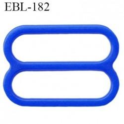 réglette 18 mm de réglage de bretelle soutien gorge en pvc bleu largeur intérieur 18 mm hauteur 16 mm largeur extérieur 22 mm