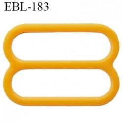 réglette 18 mm de réglage bretelle soutien gorge en pvc orange clair  largeur intérieur 18 mm hauteur 16 mm largeur exté 22 mm