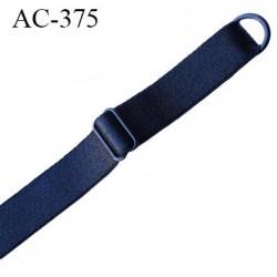 bretelle 16 mm lingerie SG couleur noir brillant largueur 16 mm longueur 43 cm  très haut de gamme prix à la pièce