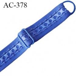 bretelle 16 mm lingerie SG couleur bleu et intérieur brillant largueur 16 mm longueur 40 cm  très haut de gamme prix à la pièce
