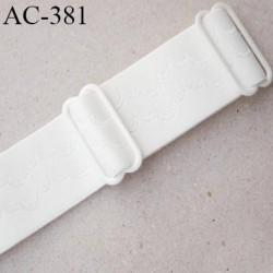 bretelle 19 mm lingerie SG couleur naturel écru avec motif largeur 19 mm longueur 35 cm très haut de gamme prix à la pièce