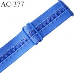 bretelle 24 mm lingerie SG couleur bleu et intérieur brillant largueur 24 mm longueur 35 cm  très haut de gamme prix à la pièce