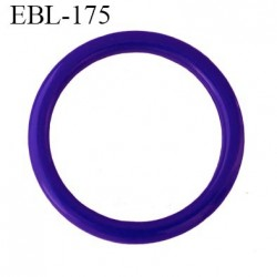 anneau de réglage 17 mm en pvc couleur bleu méditérranéen  diamètre intérieur 17 mm  diamètre extérieur 22 mm épaisseur 2 mm