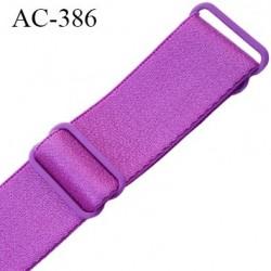 bretelle 24 mm lingerie SG couleur fushia freesia brillant largueur 24 mm longueur 40 cm  très haut de gamme prix à la pièce