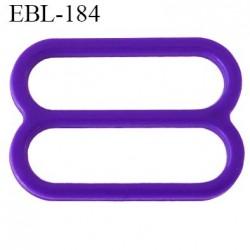 réglette 18 mm de réglage de bretelle soutien gorge en pvc violet largeur intérieur 18 mm hauteur 16 mm largeur extérieur 22 mm