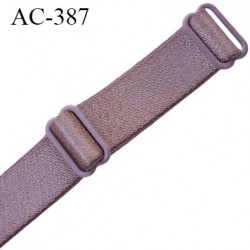 bretelle 16 mm lingerie SG couleur bois de rose brillant largueur 16 mm longueur 45 cm très haut de gamme  prix à la pièce
