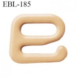 Crochet métal 6 mm plastifié couleur chair largeur intérieur de passage de bretelle 6 mm haut de gamme