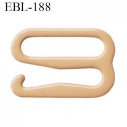 Crochet métal 10 mm plastifié couleur chair largeur intérieur de passage de bretelle 10 mm haut de gamme hauteur 8.5