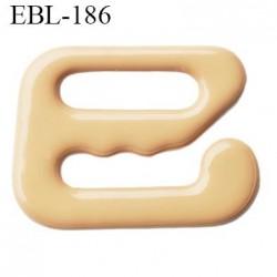 Crochet métal 8 mm plastifié couleur chair largeur intérieur de passage de bretelle 8 mm haut de gamme