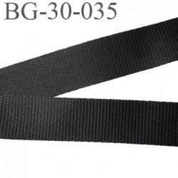 Sangle 30 mm synthétique très très solide couleur noir largeur 30 mm épaisseur 1.6 mm prix au mètre