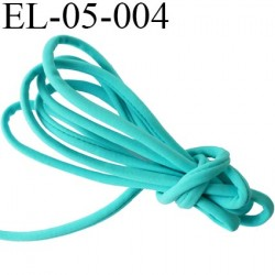 Cordon élastique 5 mm ou Cache Armature  underwire casing galon couleur vert lagon lycra extensible diamètre 5 mm prix au mètre