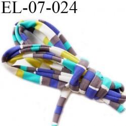 Cordon élastique 7 mm ou Cache Armature  underwire casing galon couleur vert lagon anis blanc gris bleu lycra extensible