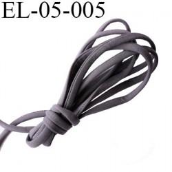 Cordon élastique 5 mm ou Cache Armature  underwire casing galon couleur gris lycra extensible diamètre 5 mm  haut de gamme