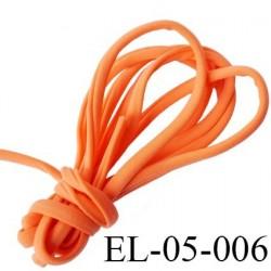 Cordon élastique 5 mm ou Cache Armature  underwire casing galon couleur orange lycra extensible diamètre 5 mm  haut de gamme
