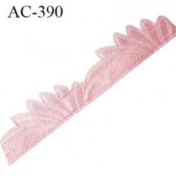 Décor ornement de lingerie ou bretelle ou autre couleur rose très très joli longueur 15.5 cm hauteur 32 mm