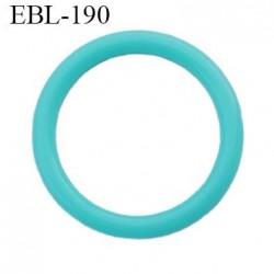 anneau de réglage 17 mm en pvc couleur vert lagon  diamètre intérieur 17 mm  diamètre extérieur 22 mm épaisseur 2.5 mm