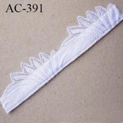Décor ornement de lingerie ou bretelle ou autre couleur blanc lumineux très très joli longueur 15.5 cm hauteur 32 mm