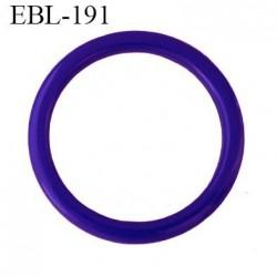 anneau 15 mm en pvc  couleur bleu méditérrannéen diamètre intérieur 15 mm diamètre extérieur 19.5 mm épaisseur 2 mm