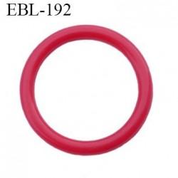 anneau 17 mm en pvc  couleur rouge diamètre intérieur 17 mm diamètre extérieur 22 mm épaisseur 2.5 mm