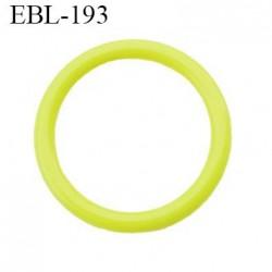 anneau 17 mm en pvc  couleur jaune vert anis diamètre intérieur 17 mm diamètre extérieur 22 mm épaisseur 2.5 mm
