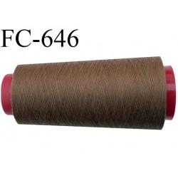 CONE de 1000 m fil polyester fil n° 120 couleur marron clair longueur de 1000 mètres bobiné en France
