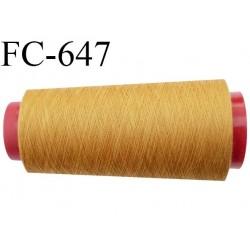 CONE de 2000 m fil polyester fil n° 120 couleur ocre longueur de 2000 mètres bobiné en France