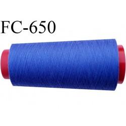 CONE de 1000 m fil polyester fil n° 120 couleur bleu longueur de 1000 mètres bobiné en France