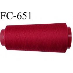 CONE de 2000 m fil polyester fil n° 120 couleur rouge longueur de 2000 mètres bobiné en France