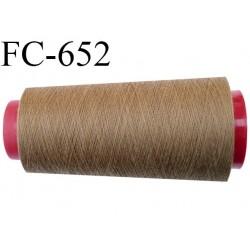 CONE de 2000 m fil polyester fil n° 120 couleur marron clair longueur de 2000 mètres bobiné en France