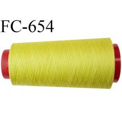 CONE de 2000 m fil polyester fil n° 120 couleur anis longueur de 2000 mètres bobiné en France