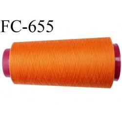 CONE de 1000 m fil polyester fil n° 120 couleur orange longueur de 1000 mètres bobiné en France