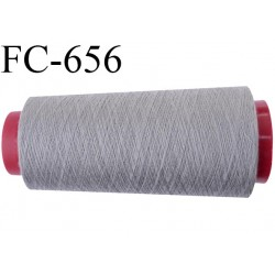 CONE de 5000 m fil polyester fil n° 120 couleur gris longueur de 5000 mètres bobiné en France