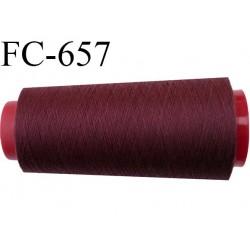 CONE de 5000 m fil polyester fil n° 120 couleur lie de vin longueur de 5000 mètres bobiné en France