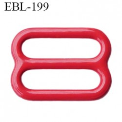 barrette réglette  12 mm de réglage de bretelle  soutien gorge en métal laqué rouge brillant   largeur intérieur