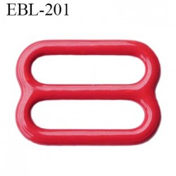barrette réglette  14 mm de réglage de bretelle  soutien gorge en métal laqué rouge brillant   largeur intérieur 14 mm