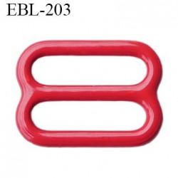 barrette réglette  16 mm de réglage de bretelle  soutien gorge en métal laqué rouge brillant   largeur intérieur 16 mm