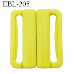 boucle clip 15 mm attache réglette pvc spécial maillot de bain couleur jaune  largeur intérieur 15 mm  haut de gamme