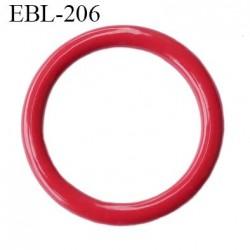 Anneau  6 mm de réglage de bretelle  soutien gorge en métal laqué rouge brillant diamètre intérieur 6 mm diamètre extérieur 9 mm