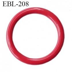Anneau 11 mm de réglage bretelle soutien gorge en métal laqué rouge brillant diamètre intérieur 11 mm diamètre extérieur 13 mm