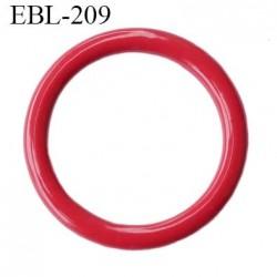 Anneau 11 mm de réglage bretelle soutien gorge en métal laqué rouge brillant diamètre intérieur 11 mm diamètre extérieur 13.5 mm