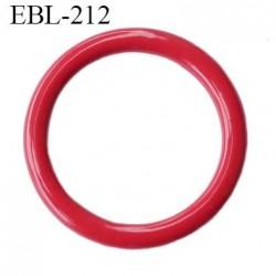 Anneau 16 mm de réglage bretelle  soutien gorge en métal laqué rouge brillant diamètre intérieur 16 mm diamètre extérieur 21 mm