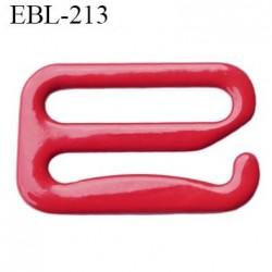Crochet 6 mm de réglage de bretelle  soutien gorge en métal laqué rouge brillant largeur intérieur 6 mm largeur extérieur 9 mm