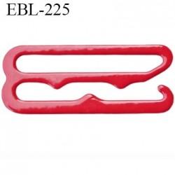 Crochet 23 mm de réglage bretelle  soutien gorge en métal laqué rouge brillant largeur intérieur 23 mm largeur extérieur 27 mm