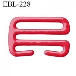 Crochet 15 mm de réglage bretelle  soutien gorge en métal laqué rouge brillant largeur intérieur 15 mm largeur extérieur 19 mm