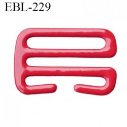 Crochet 17 mm de réglage bretelle  soutien gorge en métal laqué rouge brillant largeur intérieur 17 mm largeur extérieur 22 mm
