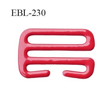 Crochet 21 mm de réglage bretelle  soutien gorge en métal laqué rouge brillant largeur intérieur 21 mm largeur extérieur 26 mm