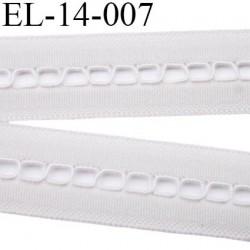 Elastique lingerie largeur 14 mm souple couleur gris clair étincelle prix au mètre